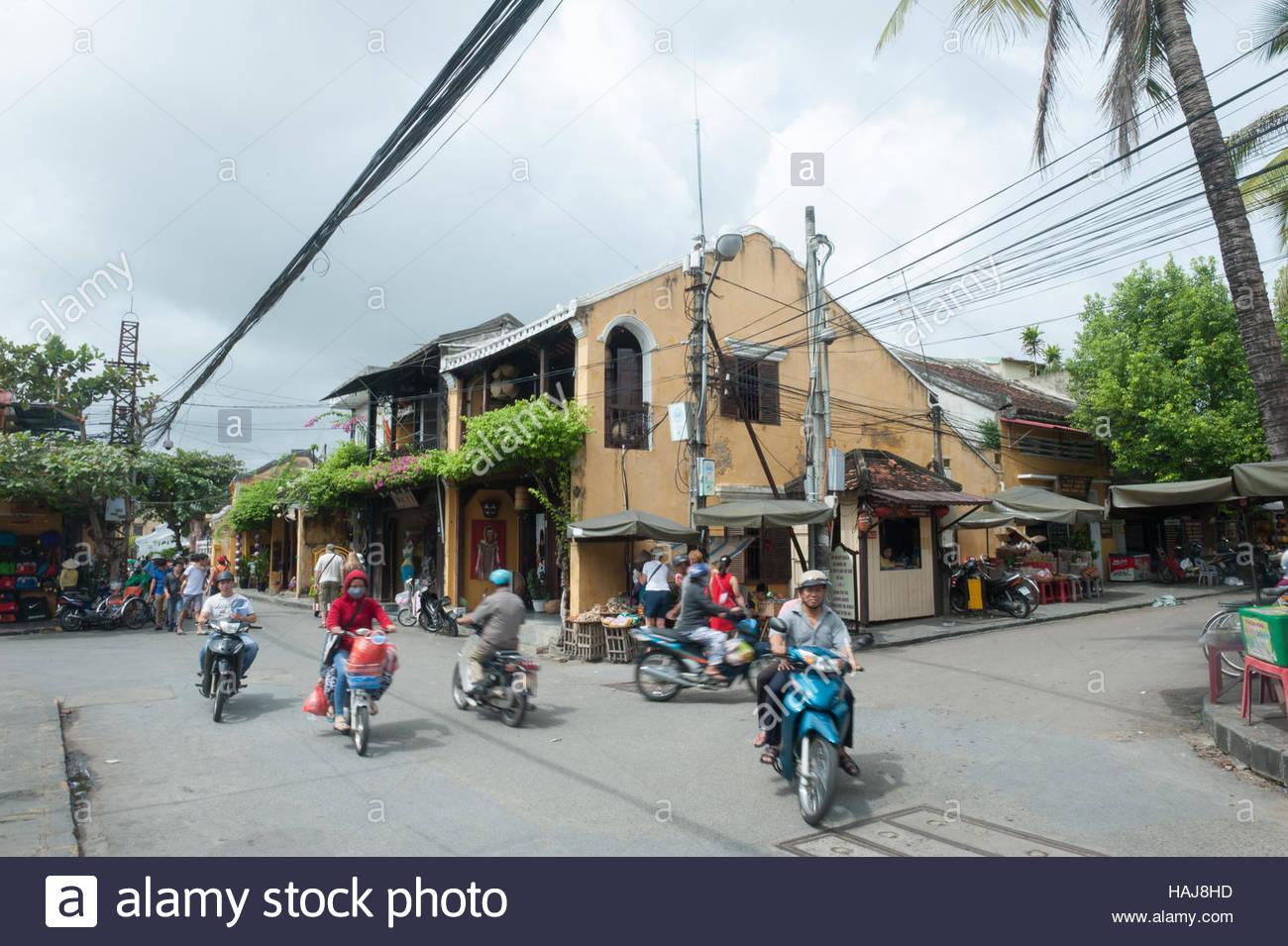 Hoi An Vietnam täglichen Leben Straßenszene. Stockbild