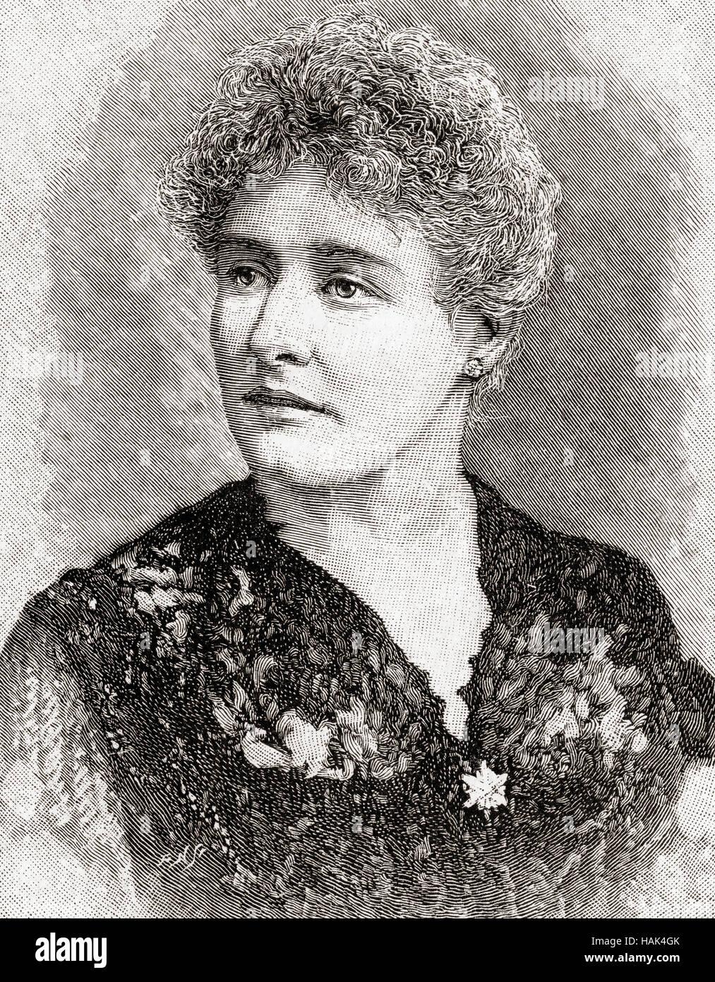 Mary Rorke, 1858-1938.  Britischer Bühnen- und Film-Schauspielerin.  Aus dem Strand Magazine, Vol I Januar Stockbild