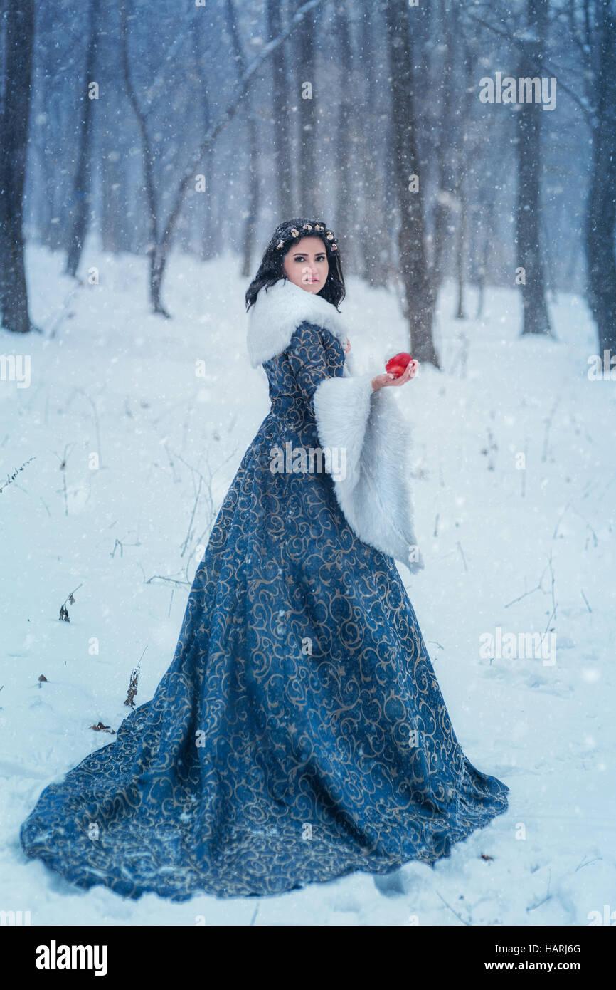Porträt von Snow White Stockfoto