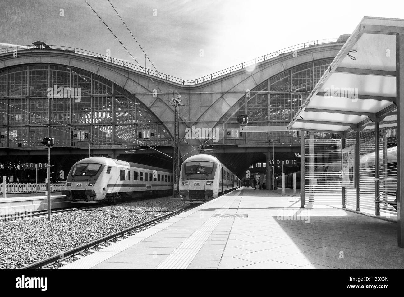 Leipziger Hauptbahnhof Stockfoto