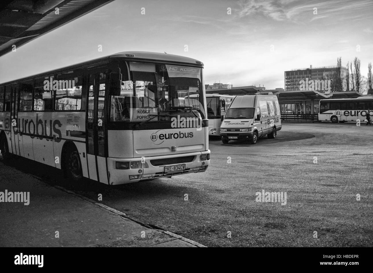 Busbahnhof in Kosice (Slowakei) Stockfoto