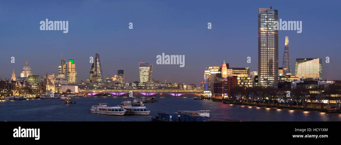 Stadt und Blackfriars Panorama mit The Shard, London, UK Stockbild