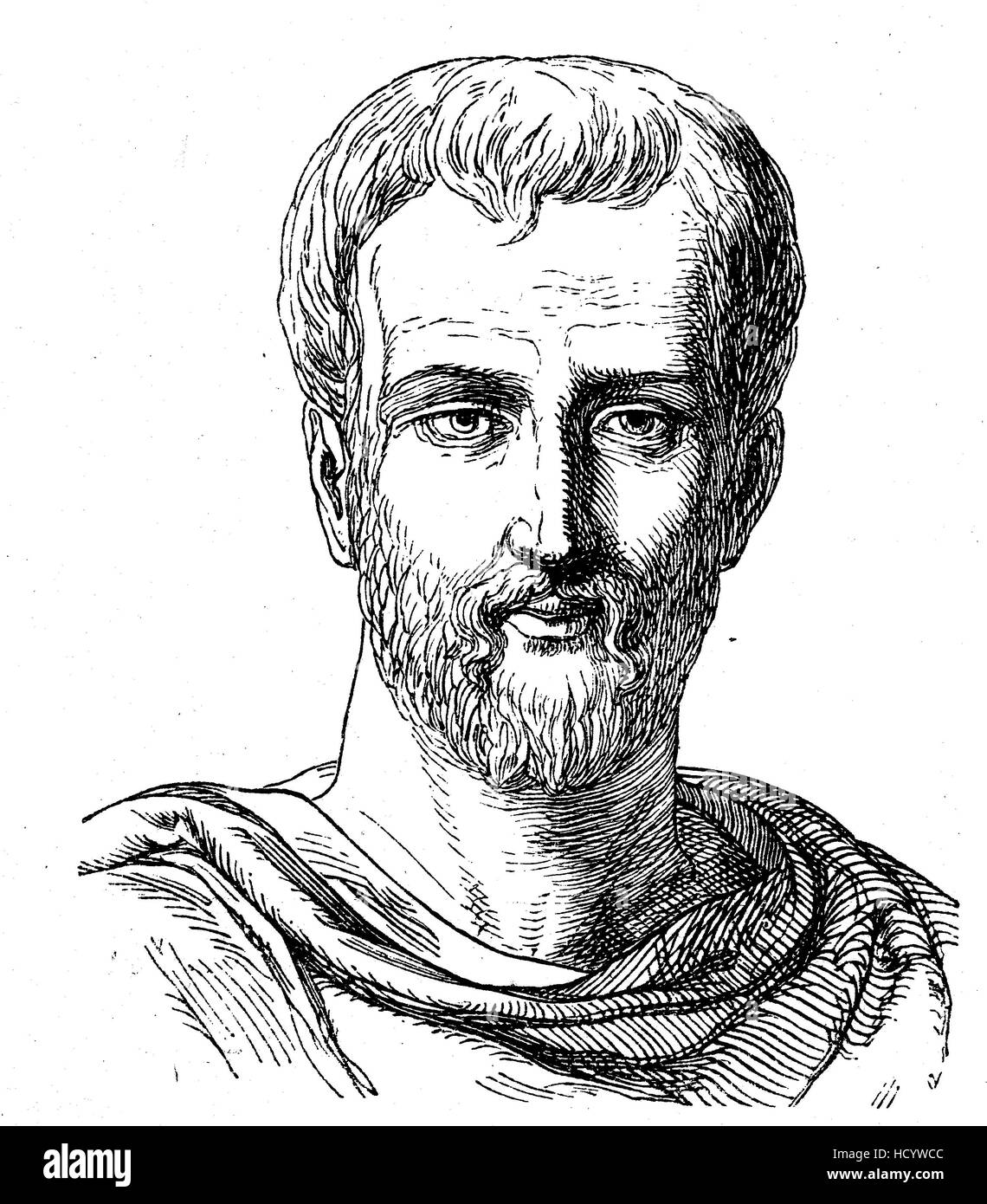Titus Maccius Plautus, 254-184 v. Chr., Plautus, römischer Dramatiker der alten lateinischen Periode, die Geschichte Stockbild