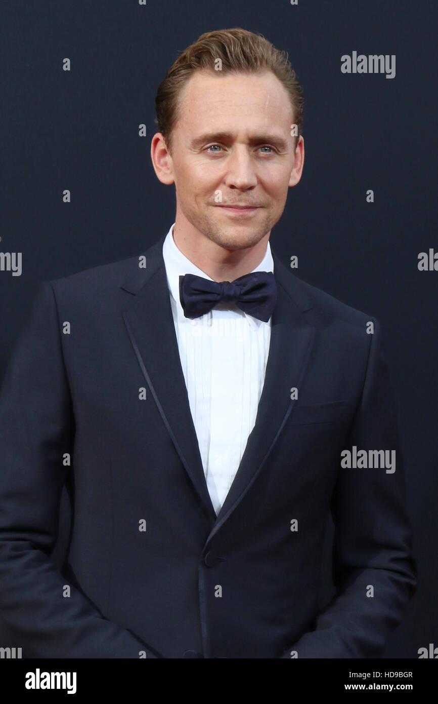 2016 Primetime Emmy Awards - Anreise am Microsoft-Theater am 18. September 2016 in Los Angeles, CA mit: Tom Hiddleston Stockfoto