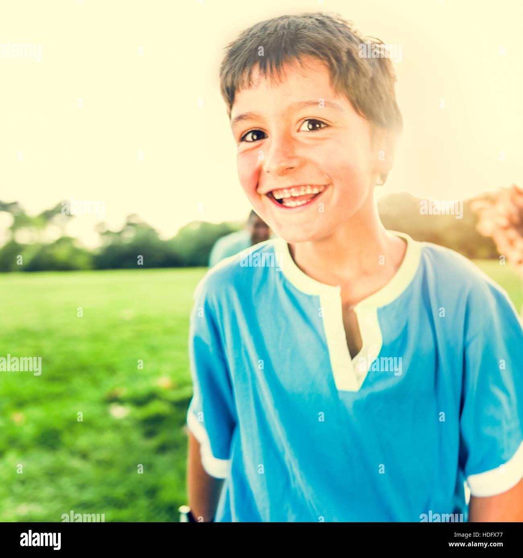 Aktivität spielen lustig Kind Erholungspark Konzept Stockbild