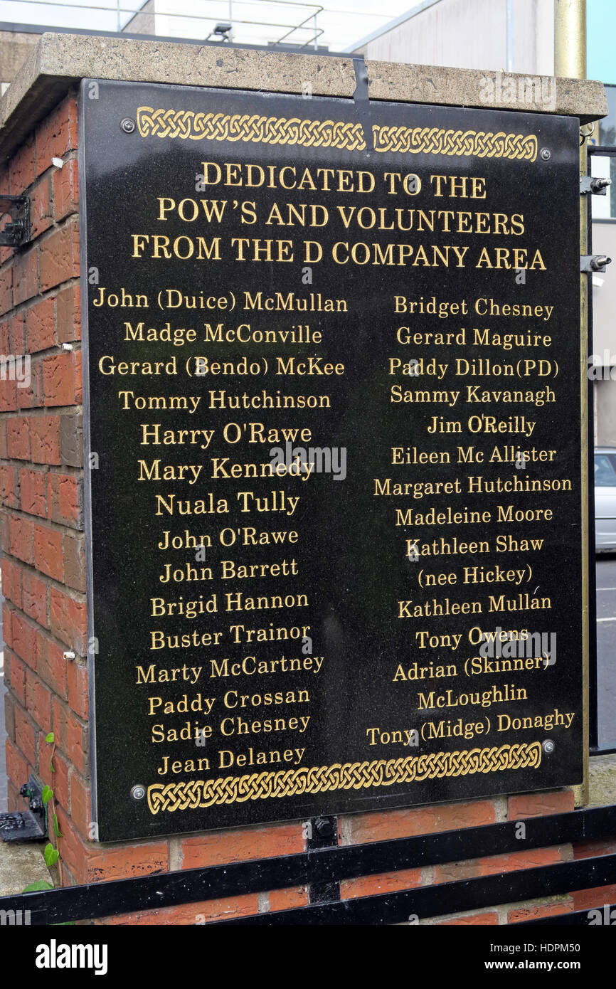 Laden Sie dieses Alamy Stockfoto Falls rd, Kriegsgefangenen Garten der Erinnerung, IRA-Mitglieder getötet, verstorben auch Ex-Häftlinge, West Belfast, NI, UK - HDPM50