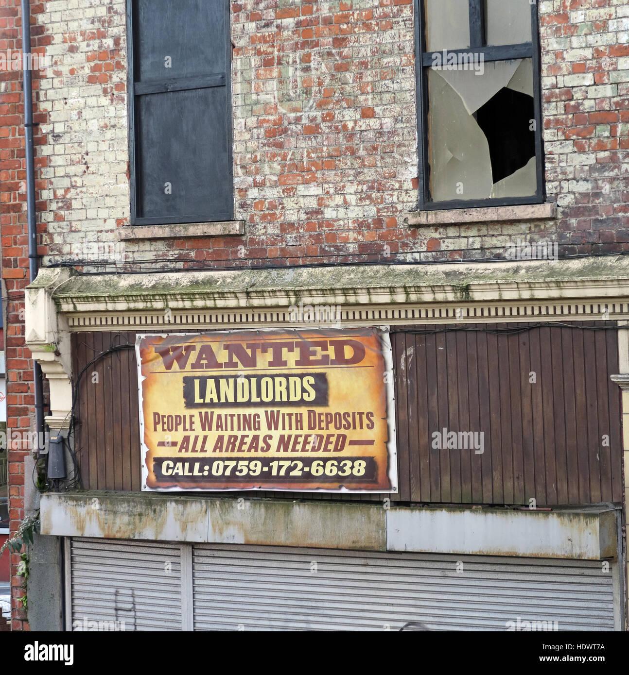 Laden Sie dieses Alamy Stockfoto Heruntergekommenen Vermietung Unterkunft - Vermieter wollte, Menschen warten mit Einlagen, ggf. alle Bereiche 0759-1726638 Belfast nennen - HDWT7A