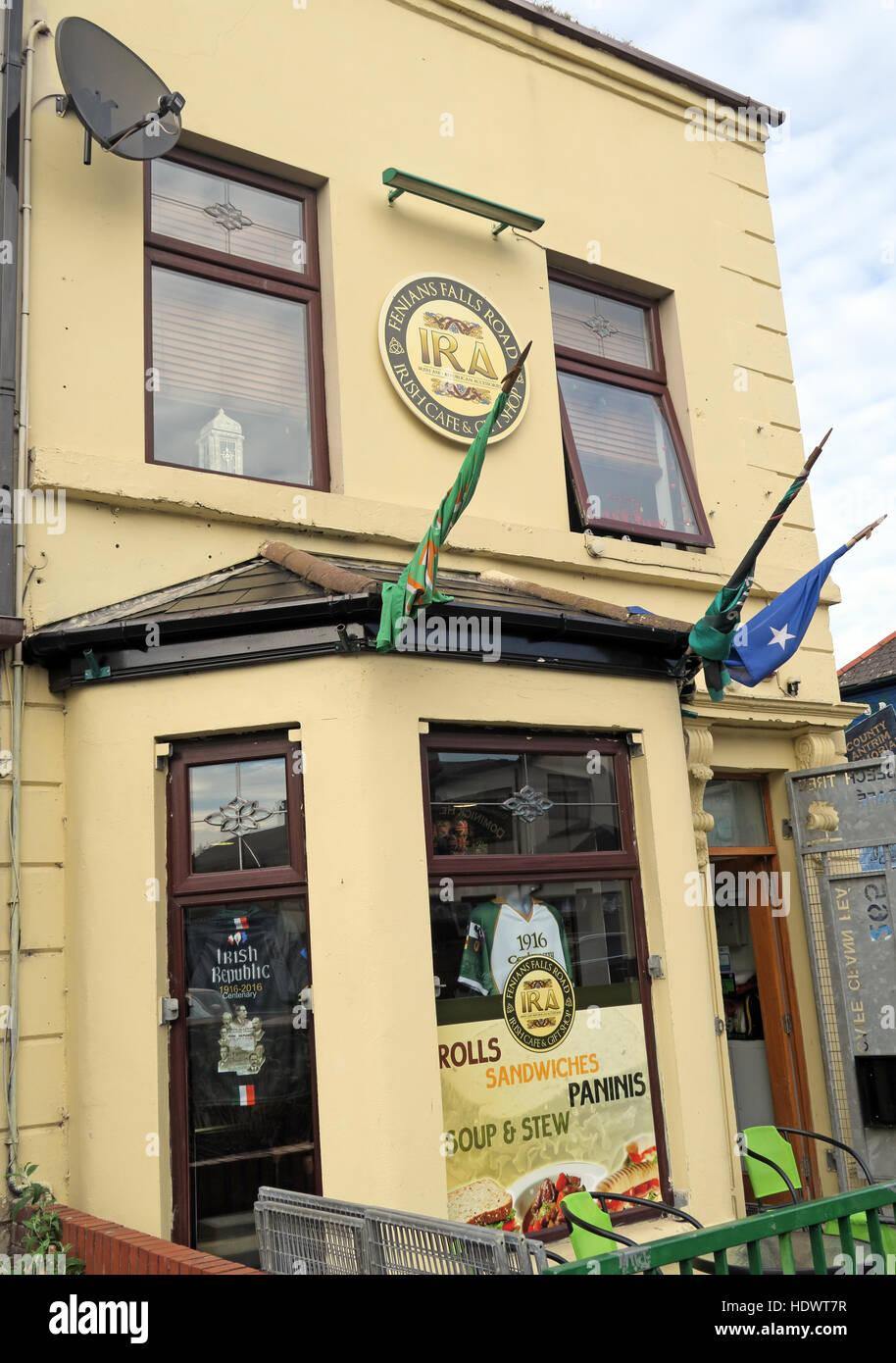Laden Sie dieses Alamy Stockfoto Belfast Falls Rd republikanischen IRA Cafe, Falls Road Suppen & Eintopf - HDWT7R