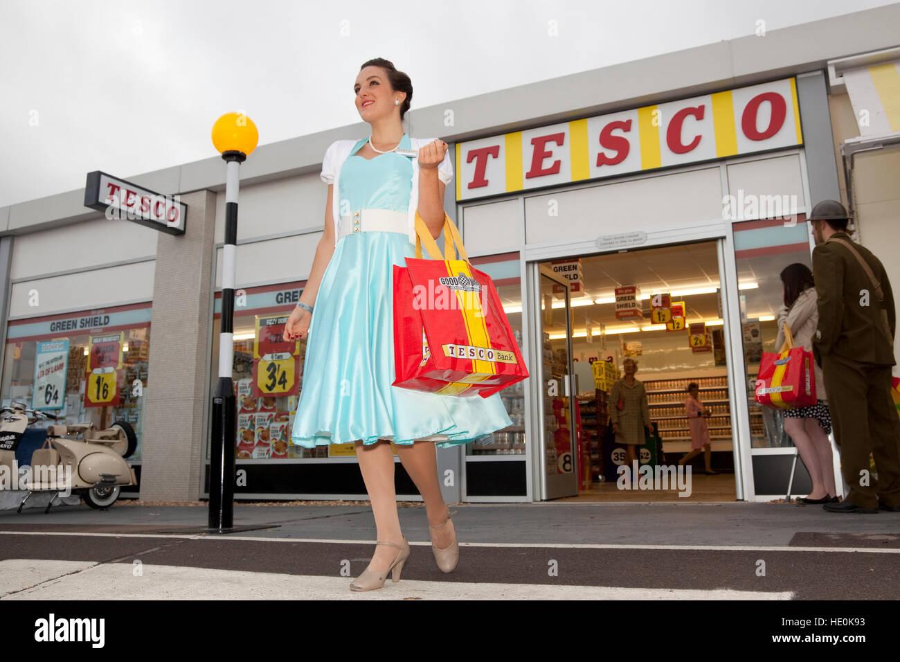 Goodwood Revival Tesco Pop-up-store Stockbild