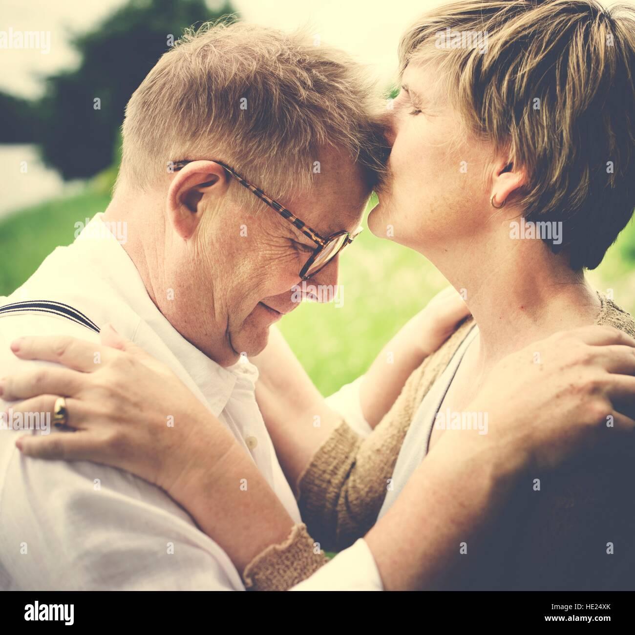Älteres Ehepaar Senior Romance Liebe Konzept Stockbild