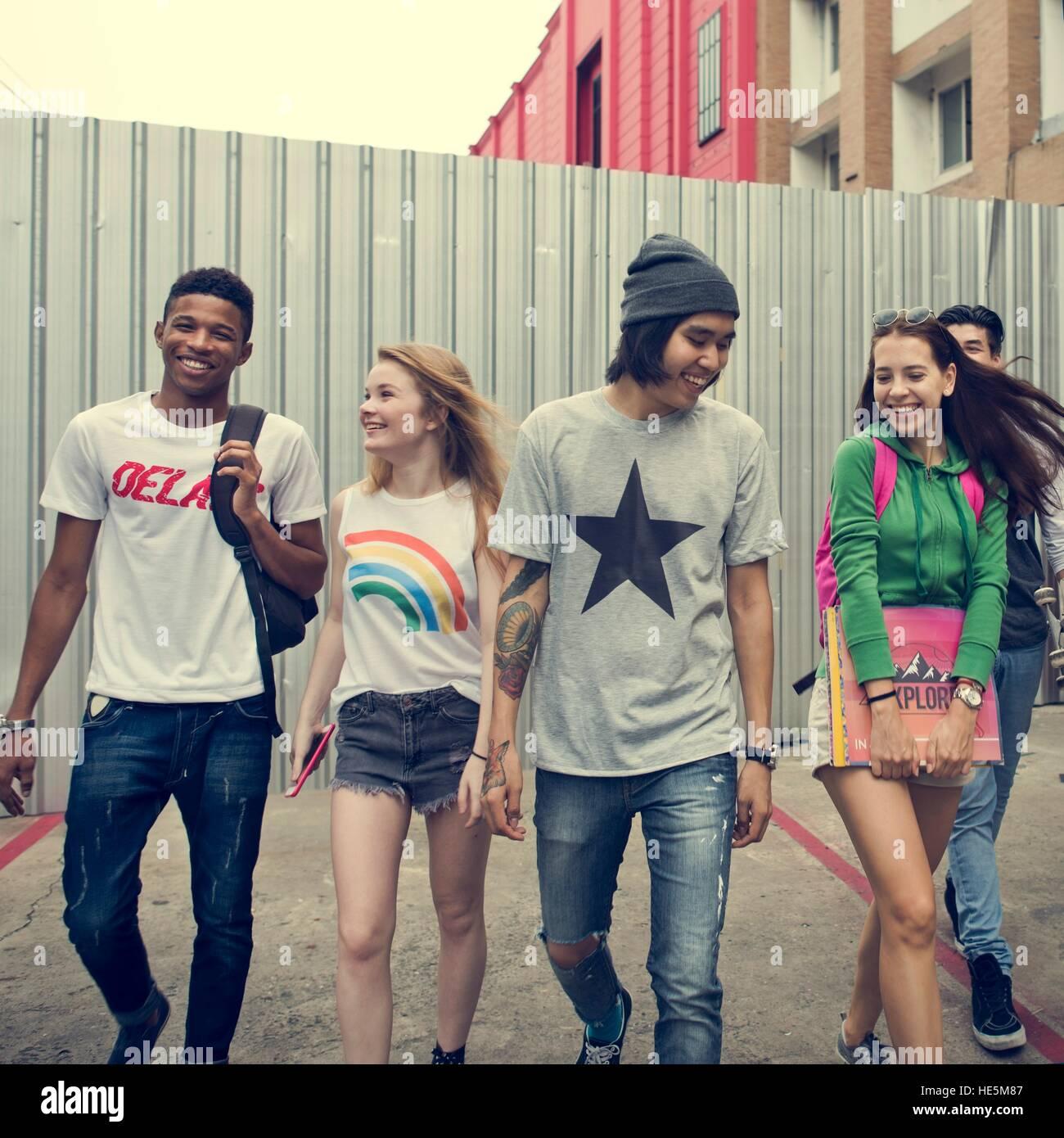 Freunde Hipster Teenager Buddies Konzept Stockbild