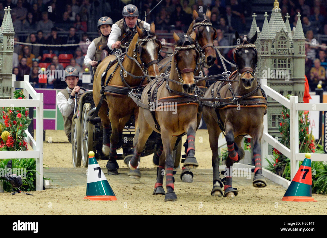 London, UK. 17. Dezember 2016. Olympia London International Horse Show in Grand Hall Olympia London UK. Die FEI Stockfoto