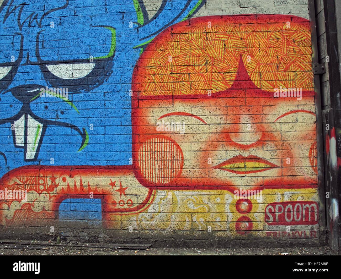 Laden Sie dieses Alamy Stockfoto Spoom Tag Grafitti, Belfast, Nordirland, Vereinigtes Königreich - HE7M8F