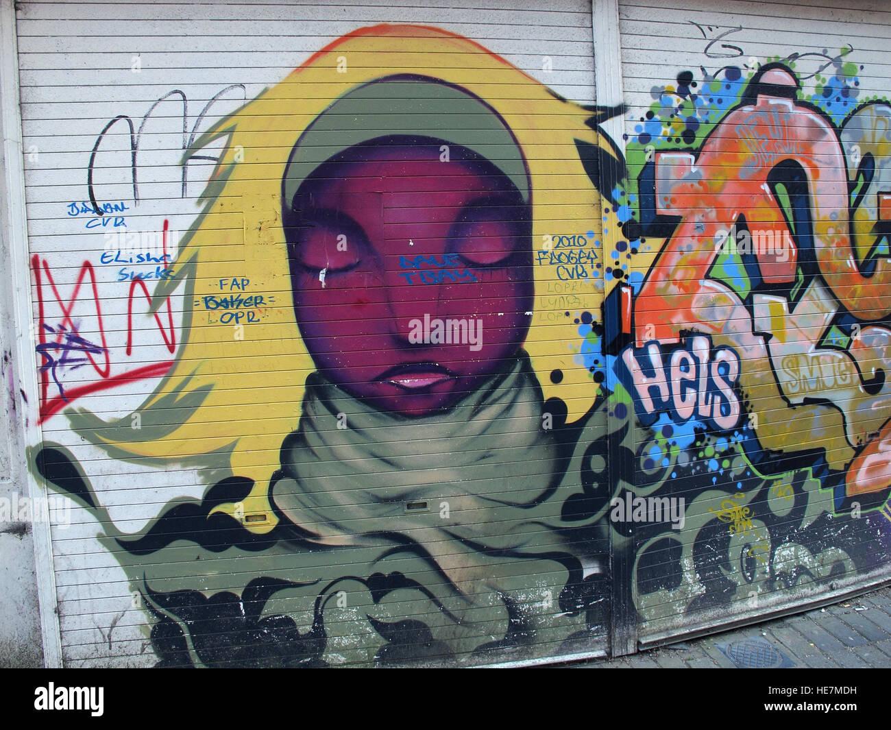 Laden Sie dieses Alamy Stockfoto Belfast Garfield St Graffiti City Centre, Northern Ireland, UK - HE7MDH