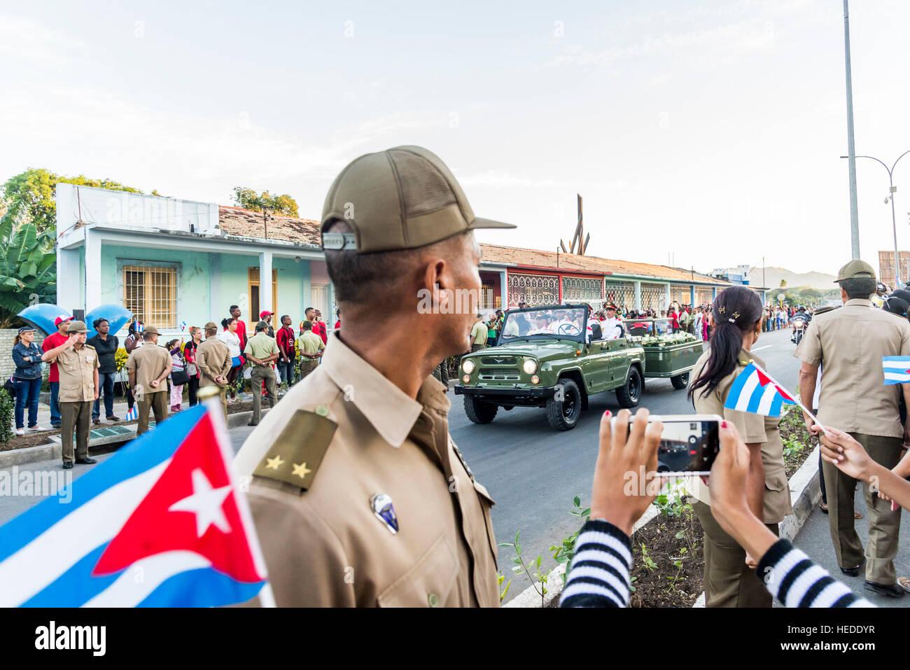 Fidel Castro Beerdigung Stockbild