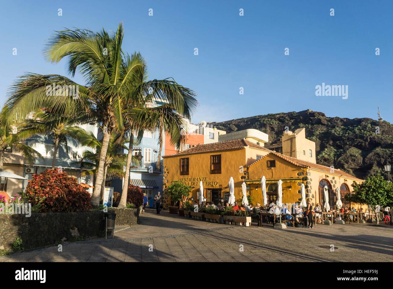 Puerto de Tazacorte, La Palma, Kanarische Inseln, Spanien Stockfoto