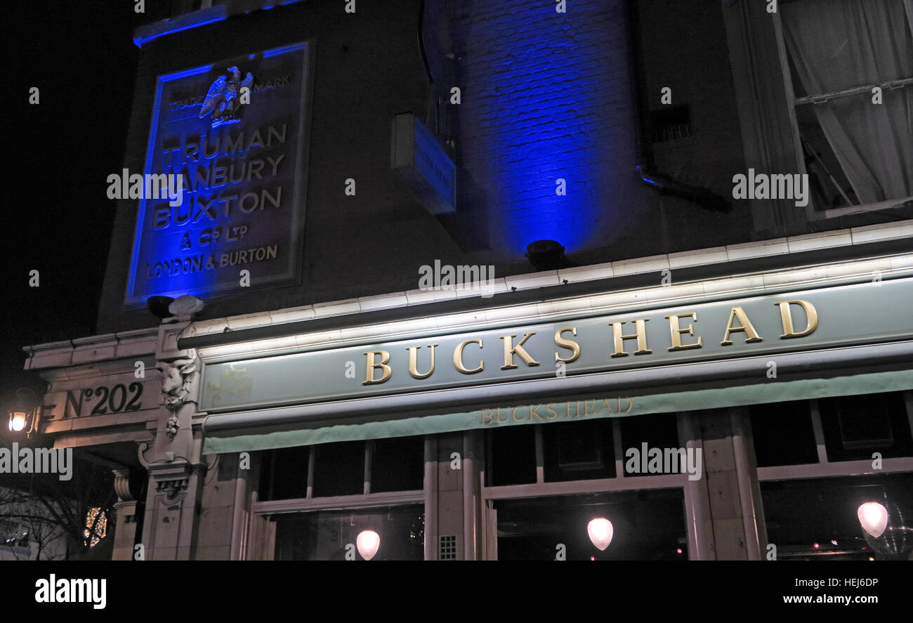Laden Sie dieses Alamy Stockfoto Camden Town, Bucks Kopf bei Nacht, Nord-London, England, UK - HEJ6DP