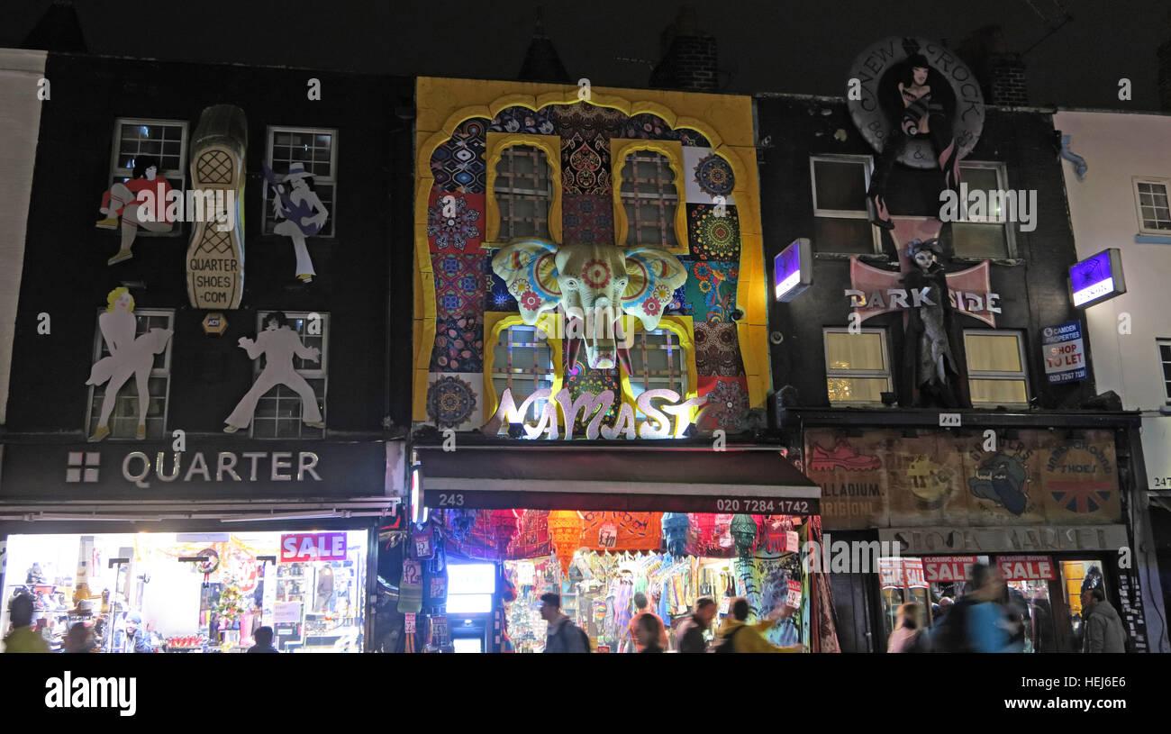Laden Sie dieses Alamy Stockfoto Camden Stadt bei Nacht, Nord-London, England, UK - Viertel - HEJ6E6