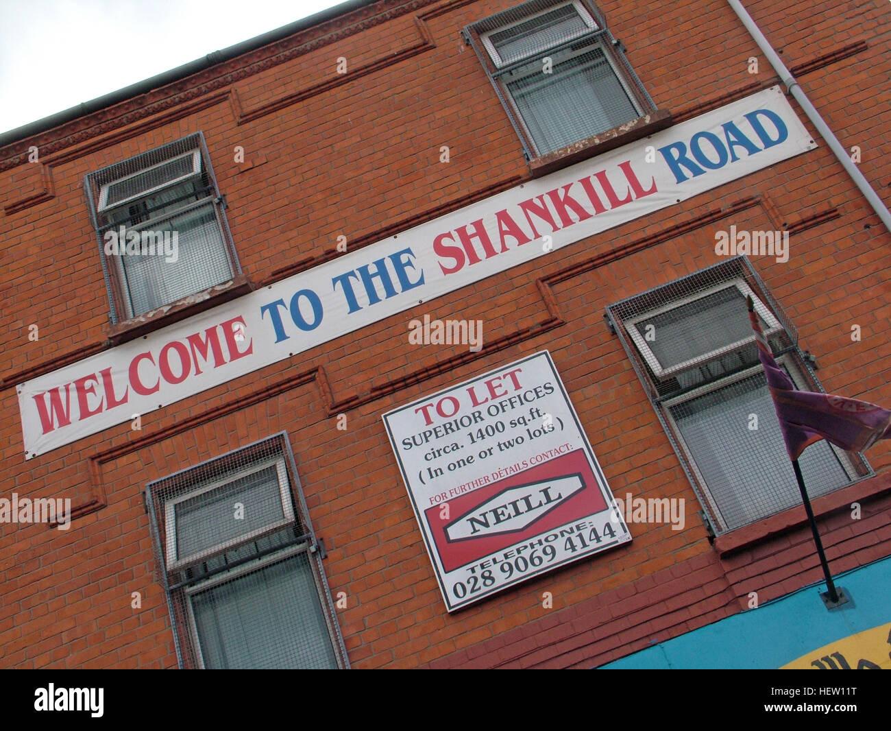 Laden Sie dieses Alamy Stockfoto Shankill Road Wandbild - Willkommen in der Shankill Road, West Belfast, Nordirland, Vereinigtes Königreich - HEW11T