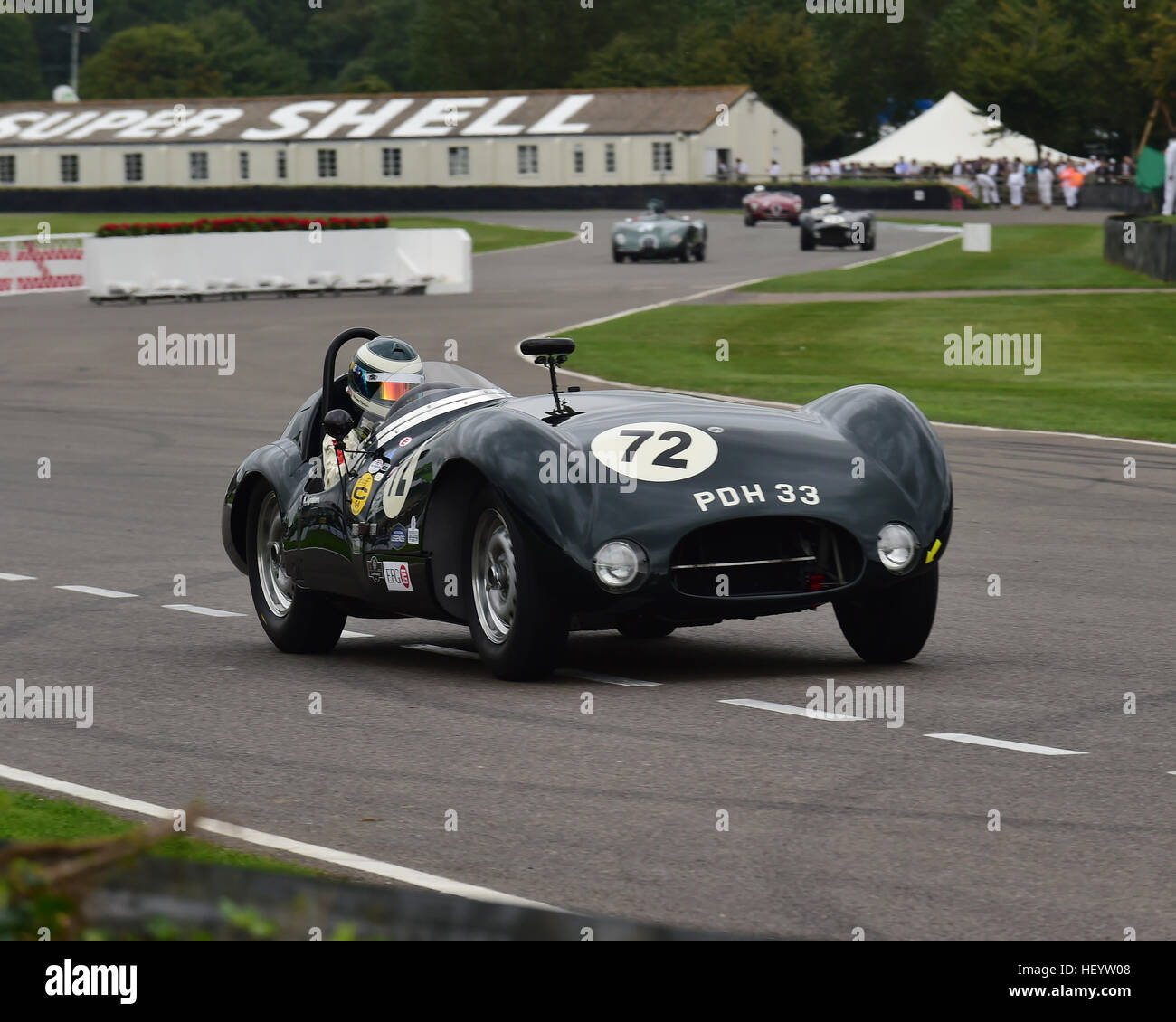 Katarina Kyvalova, Cooper Jaguar T33, Freddie März Memorial Trophy, Sports Racing Cars, Goodwood Revival 2016, Stockbild