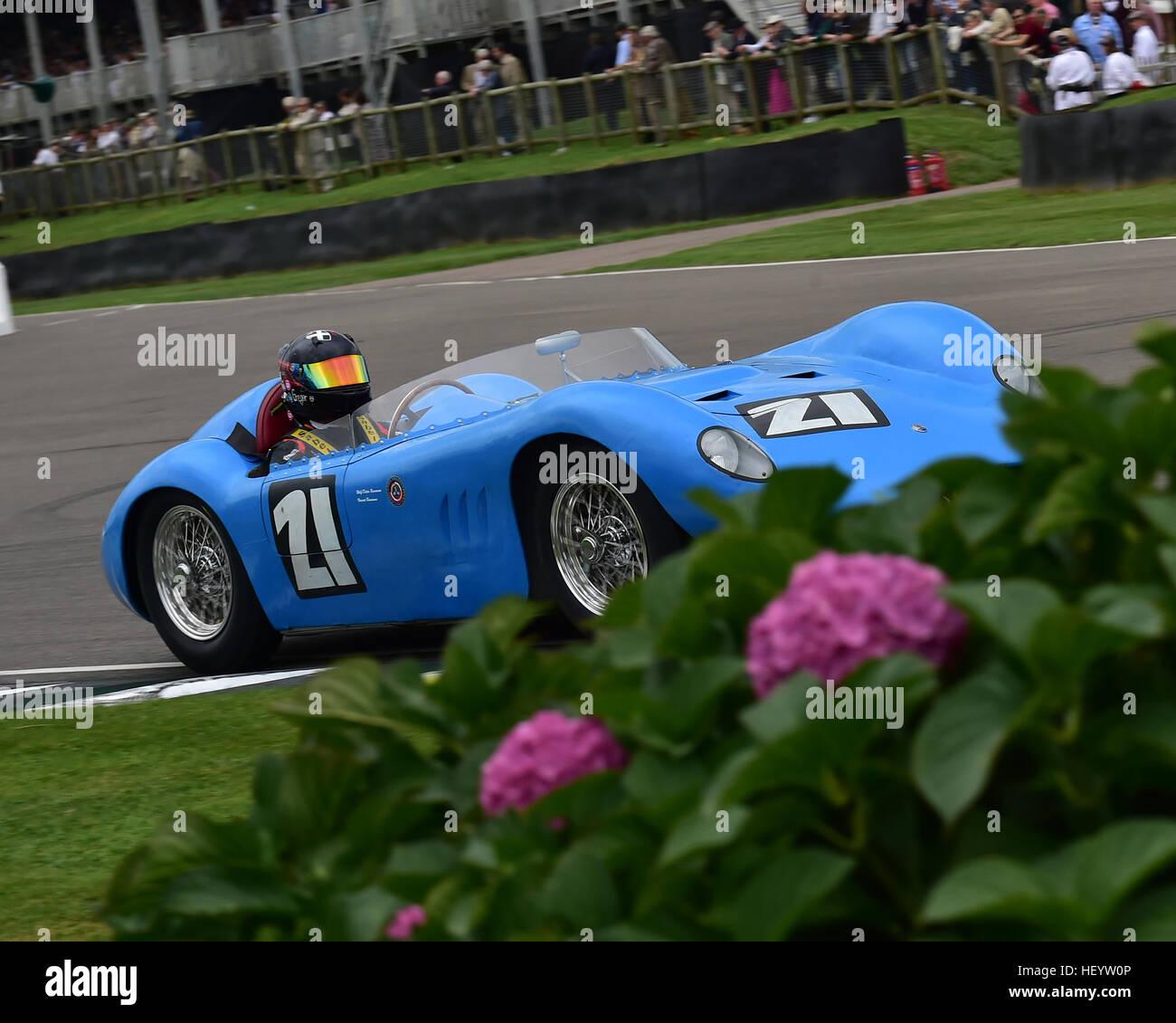 Gregor Fisken, Maserati 200Si, Freddie März Memorial Trophy, Sports Racing Cars, Goodwood Revival 2016, 2016, Stockbild