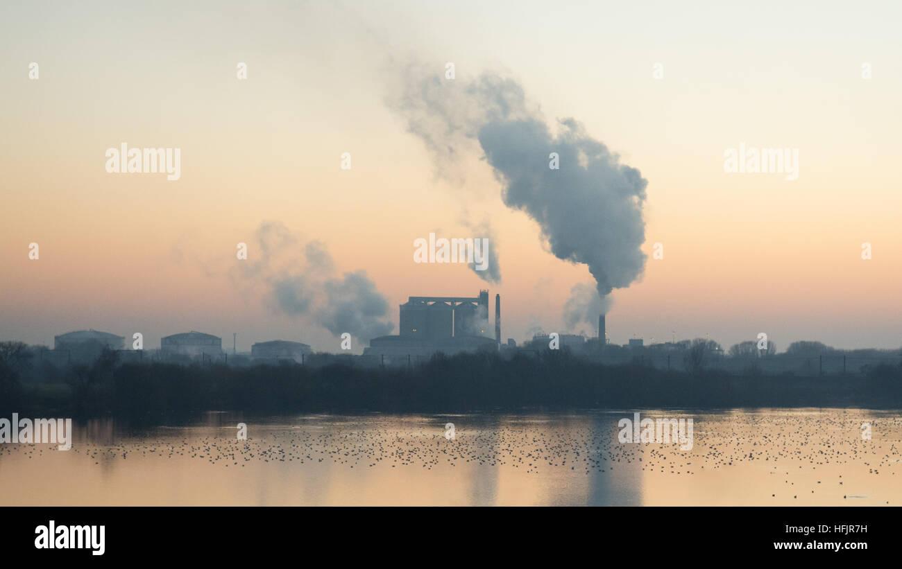 Newark Zucker Fabrik - British Sugar - Newark, Nottinghamshire, England, UK Stockbild