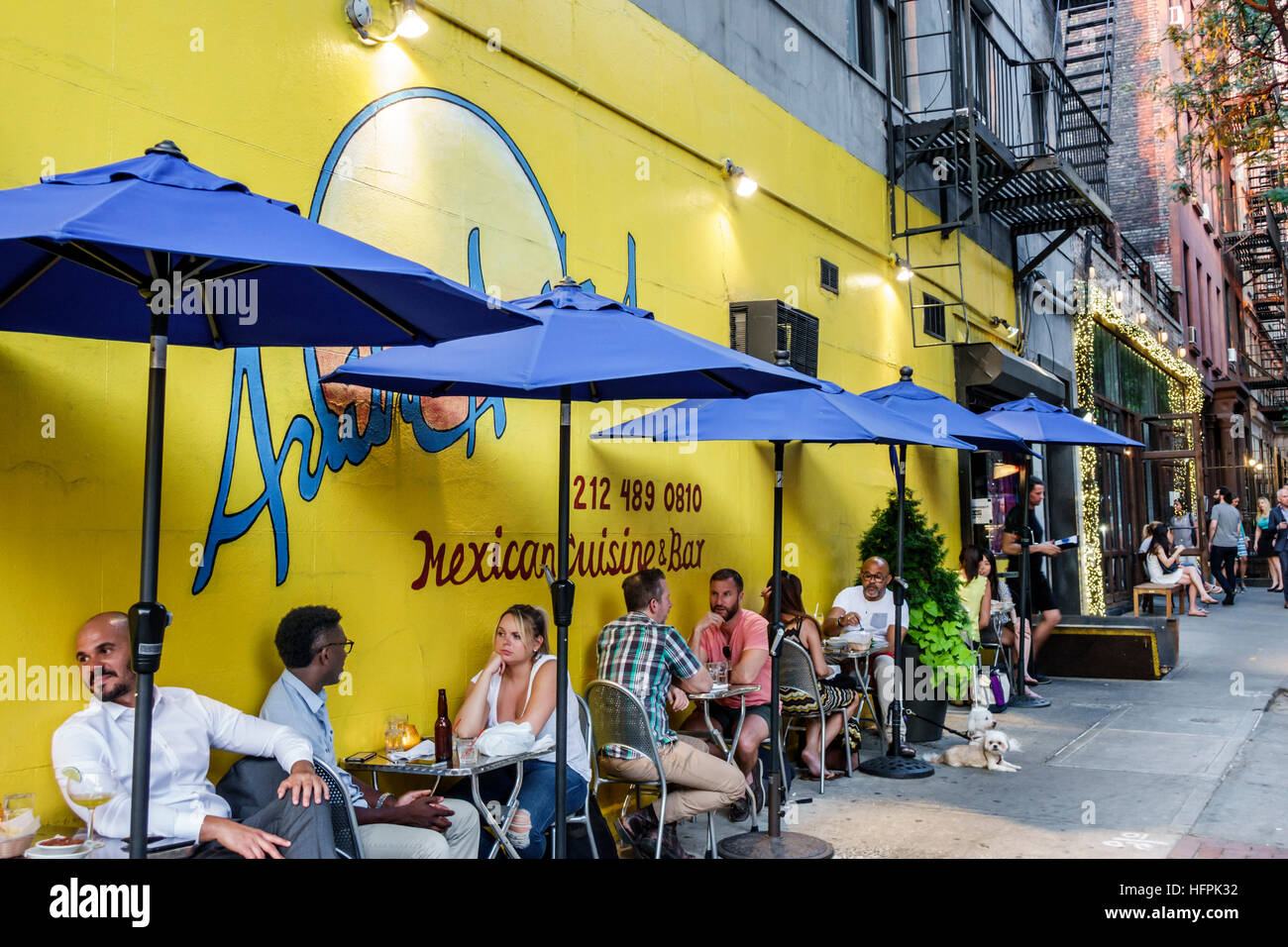 Manhattan New York City NYC NY Hölle Küche Arriba Arriba Mexican ...