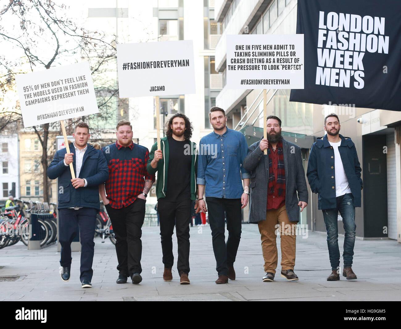 NUR zur redaktionellen Nutzung (links nach rechts) Jack Eyers, Jamie Park, William Girling, Andy Caine, Gordon McCormick Stockbild
