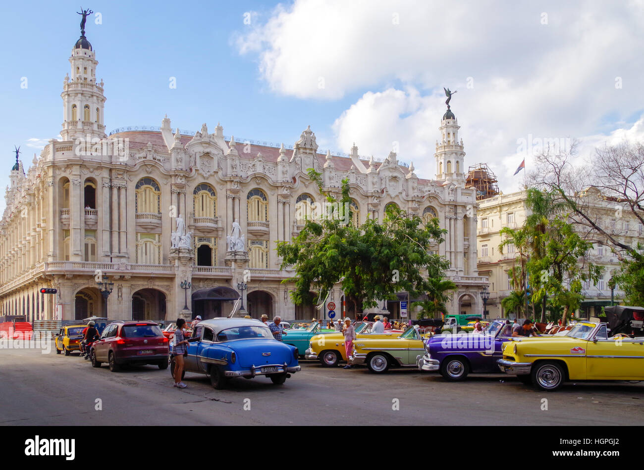 Gran Teatro de La Habana alias Großes Theater in Havanna in Havanna, Kuba Stockbild