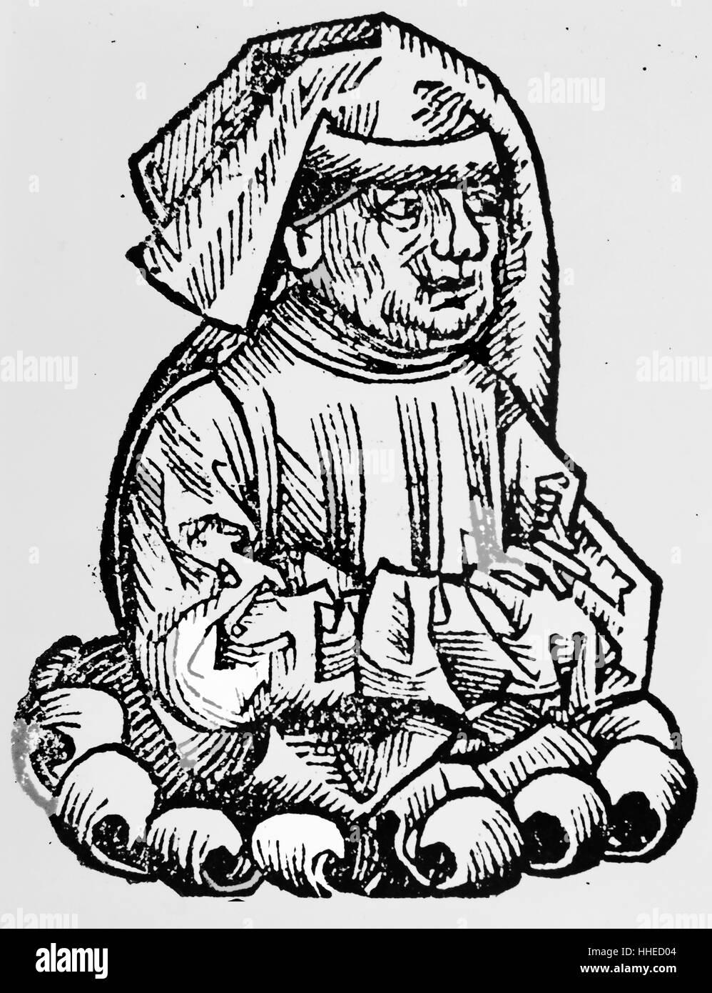 HERMES der ägyptische (Hermes Tris-Megistus) das legendäre Gründer bf okkulten und alchemistischen Stockbild