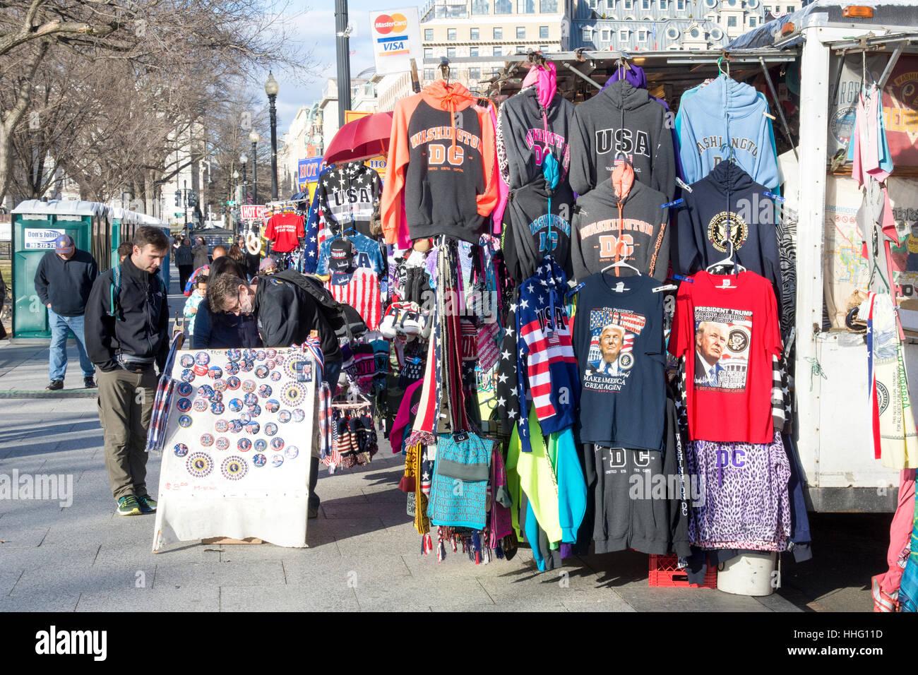 Washington DC, USA. 18. Januar 2017. In der Nähe von das Weiße Haus in Washington, DC, Straßenhändler Stockbild