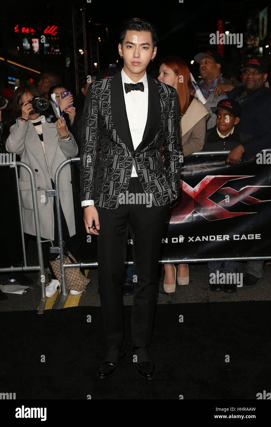 "Hollywood, USA. 19. Januar 2017. Kris Wu gesehen, Teilnahme an der ""xXx: Return Of Xander Cage' Los Angeles Premiere Stockfoto"