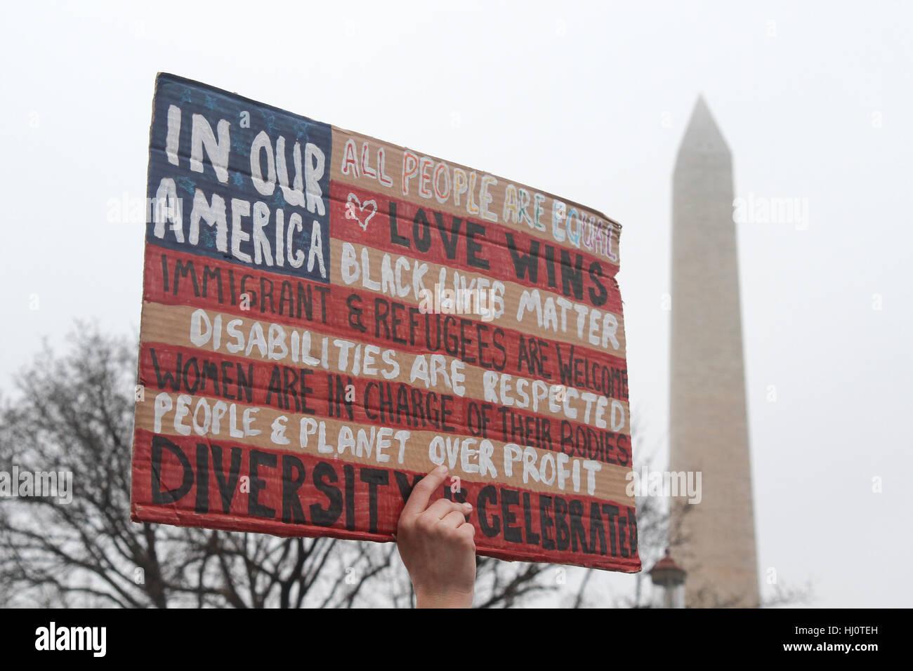 Washington, DC, Vereinigte Staaten von Amerika. 21. Januar 2017. Frauen Marsch auf Washington. Bildnachweis: Susan Stockfoto