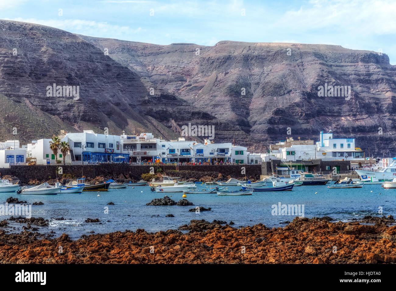 Orzola, Haria, Lanzarote, Kanarische Inseln, Spanien Stockfoto