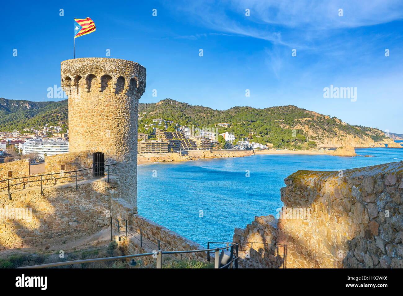 Tossa del Mar, Costa Brava, Katalonien, Spanien Stockbild