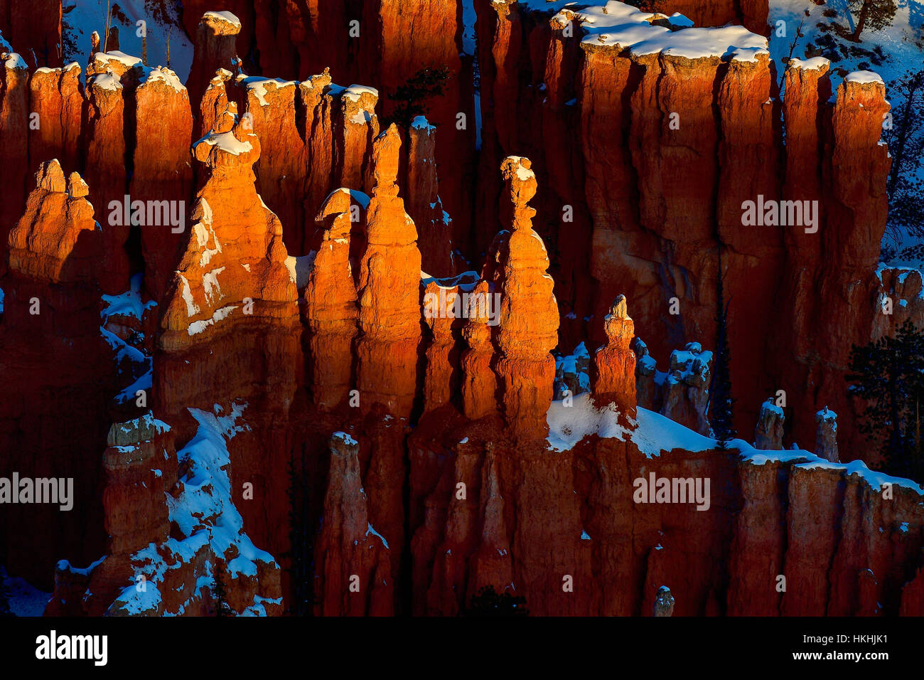 Sonnenaufgang im Bryce Canyon, abstracts Stockbild