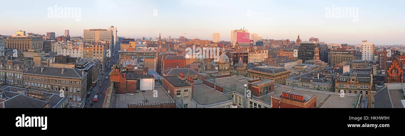 Laden Sie dieses Alamy Stockfoto Glasgow City Panorama, Schottland - HKHW9H