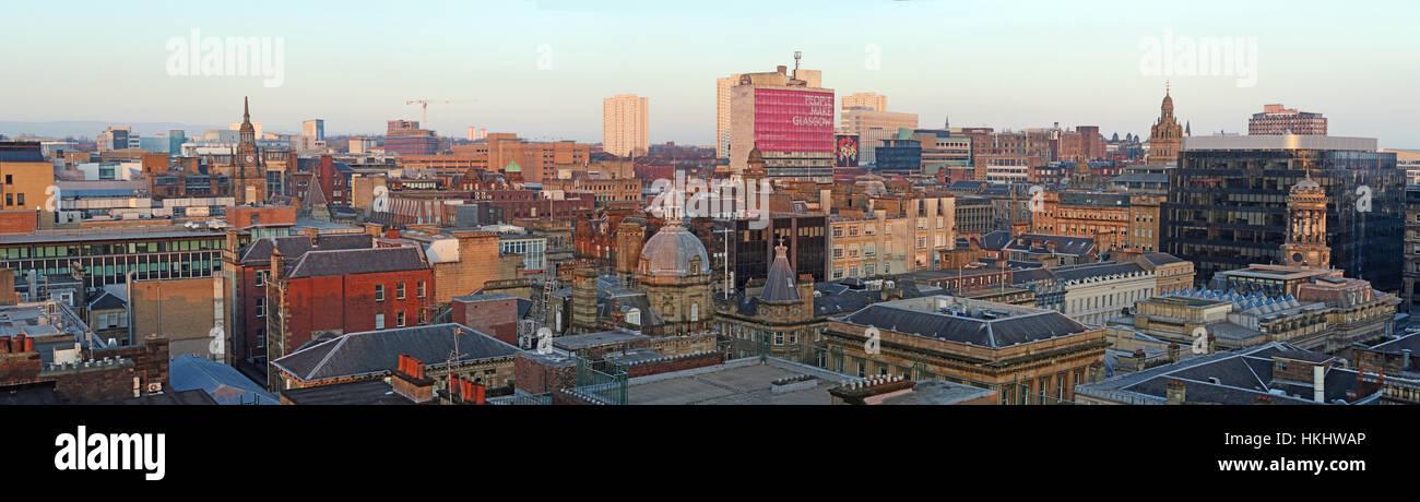 Laden Sie dieses Alamy Stockfoto Glasgow City Panorama, Schottland - HKHWAP