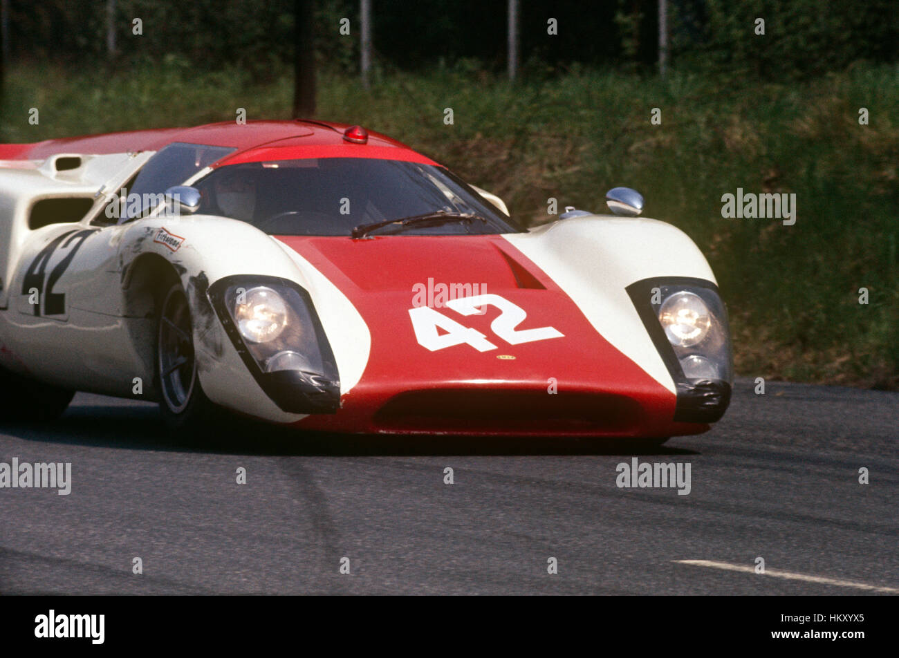 1969 Lola T70 Sportwagen auf dem richtigen Weg Stockbild