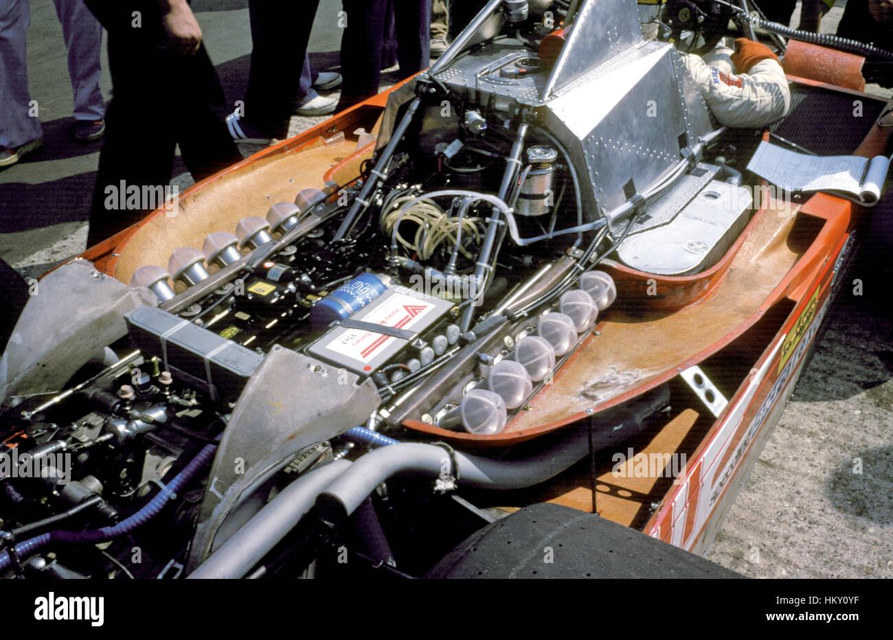 1975-Ferrari 312T Motor GG Stockbild