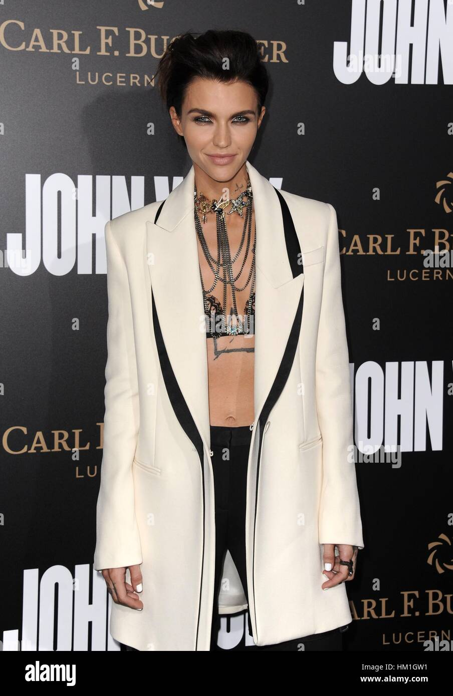 Los Angeles, CA, USA. 30. Januar 2017. Ruby Rose im Ankunftsbereich für JOHN WICK: CHAPTER TWO Premiere, Arclight Stockfoto