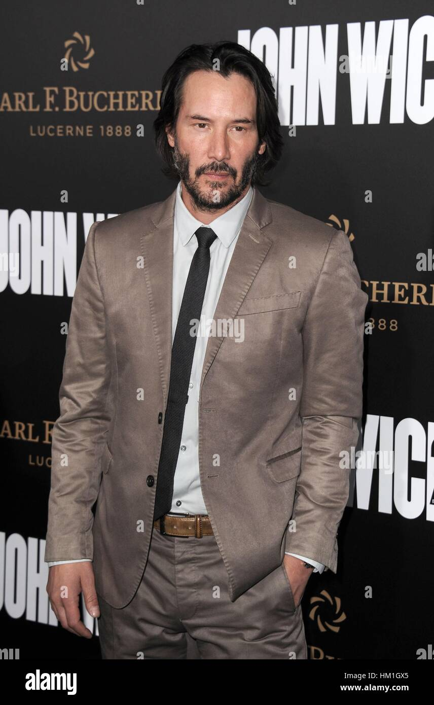 Los Angeles, CA, USA. 30. Januar 2017. Keanu Reeves im Ankunftsbereich für JOHN WICK: CHAPTER TWO Premiere, Arclight Stockfoto