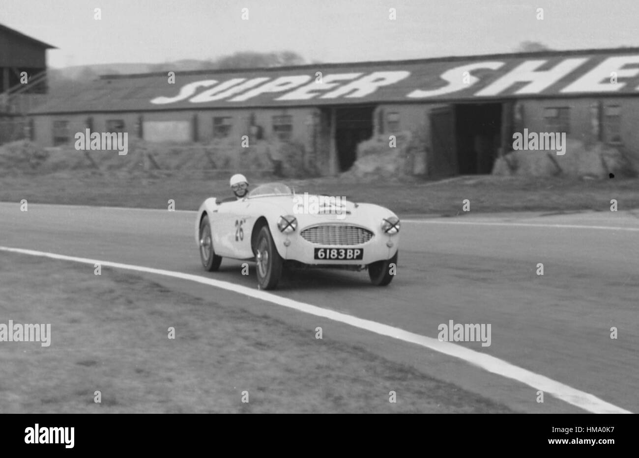 Goodwood 14. März 1959 Austin - Healey 100-6 Stockbild
