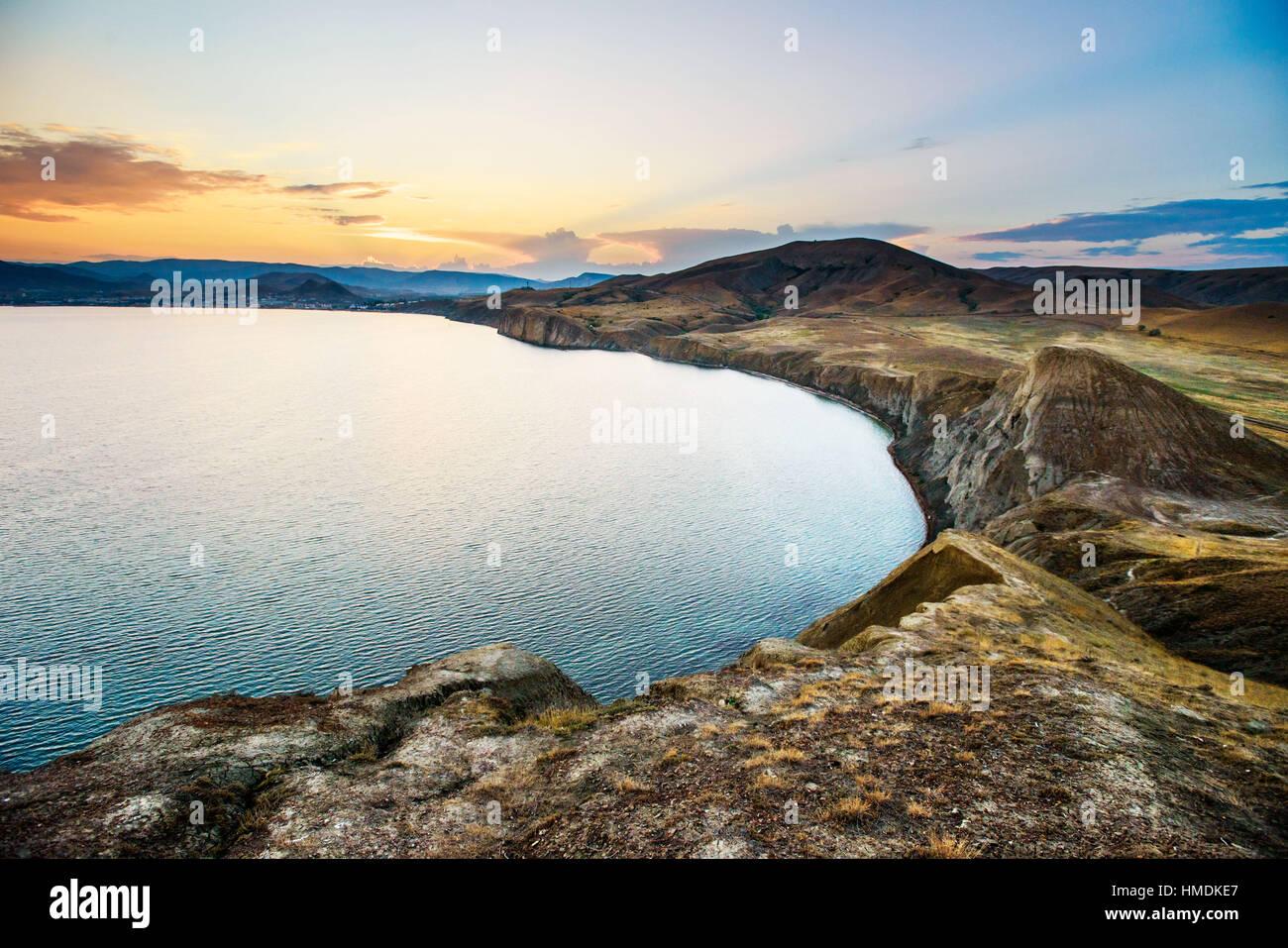 Schwarzmeer-Küste Stockbild