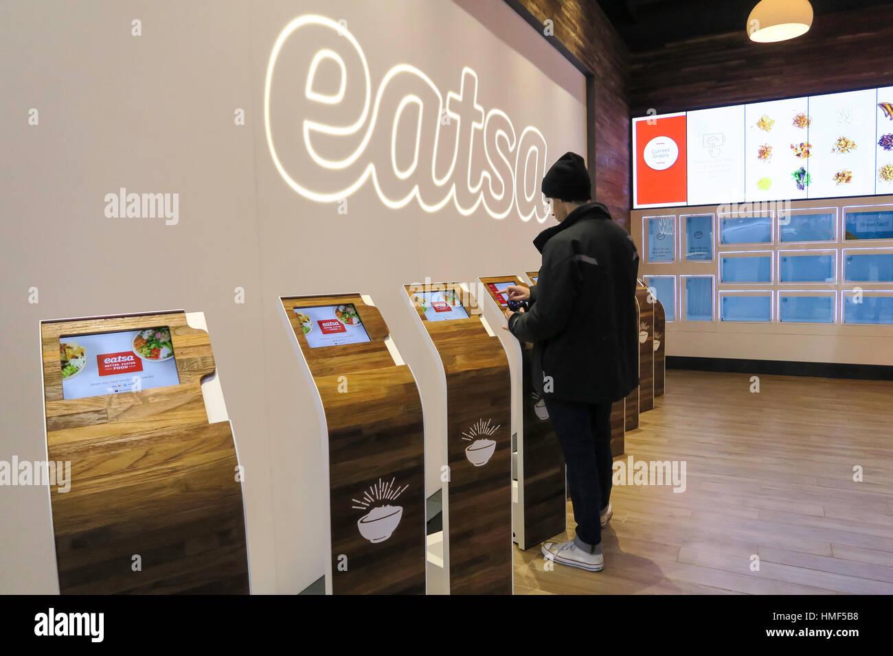 Osten, automatisiert Restaurant, NYC, USA Stockbild