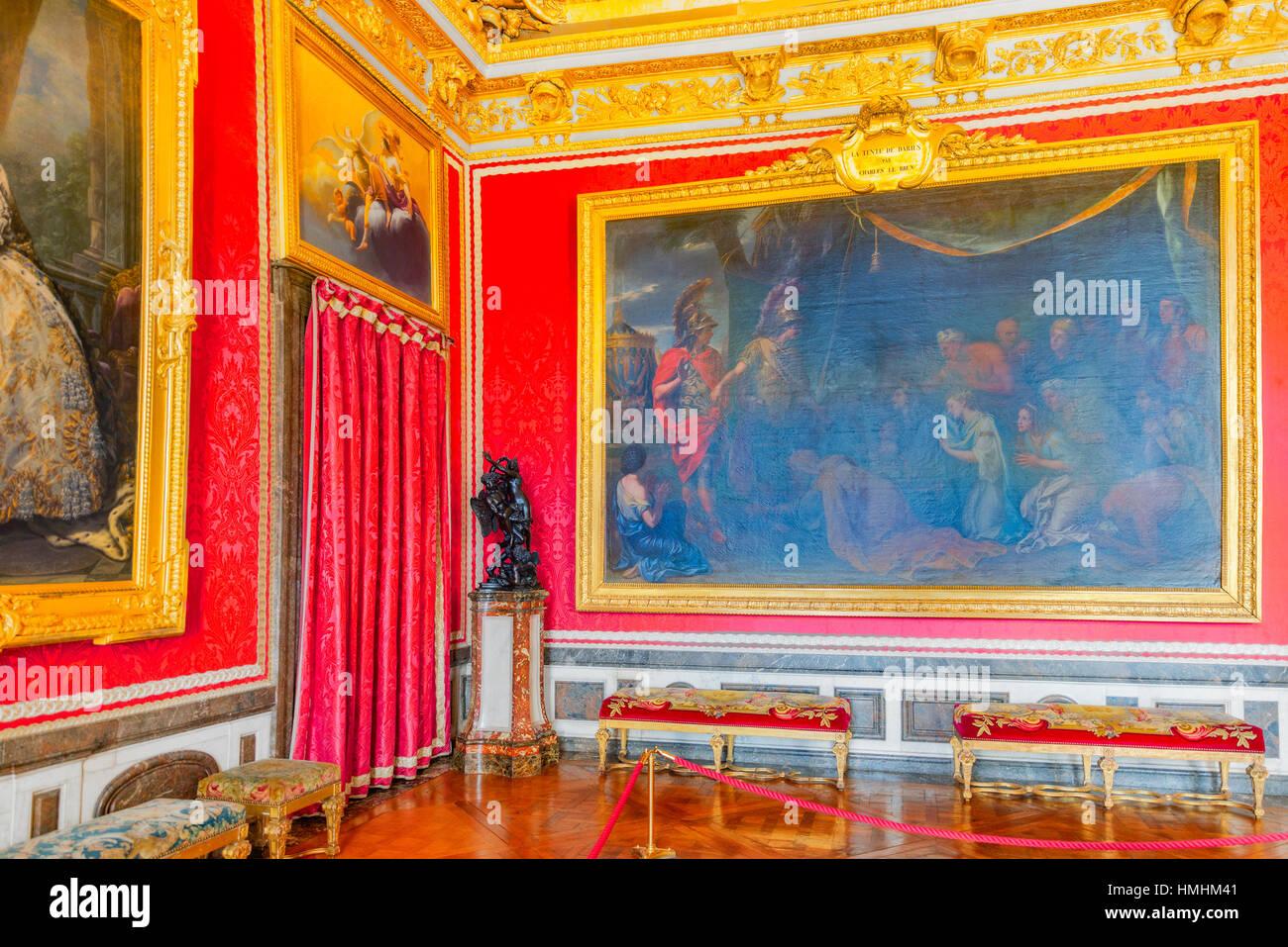 Baroque ceiling versailles palace stockfotos baroque for Salon de versailles 2016