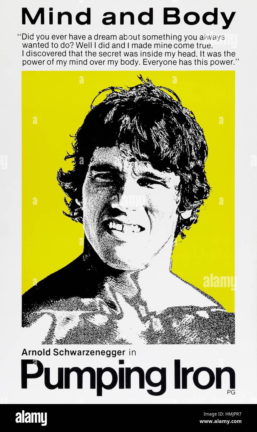 """""""Pumping Iron"""" 1977 Dokumentation unter der Regie von Robert Fiore und George Butler und starring Arnold Stockbild"""