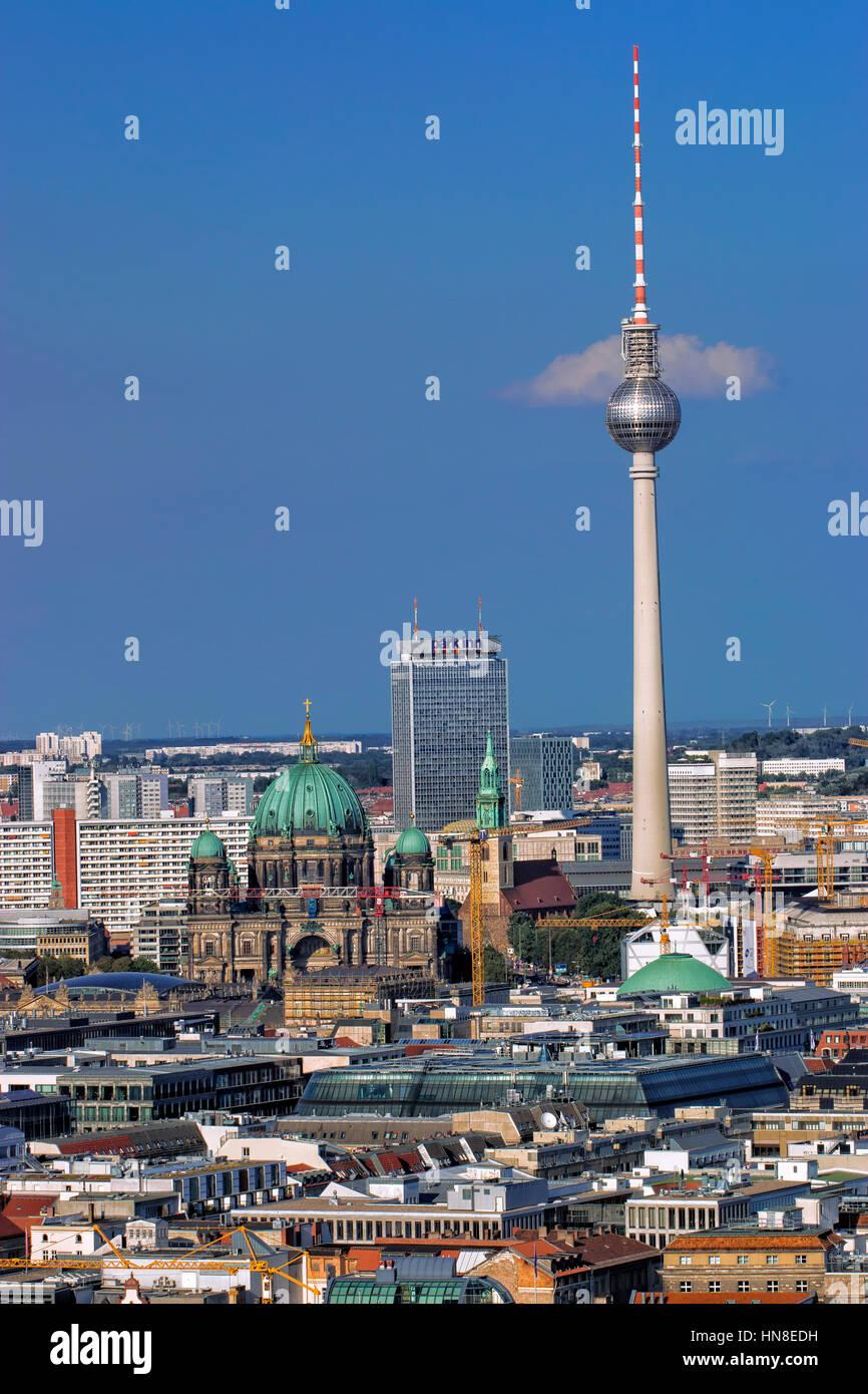 Berliner skyline Stockbild