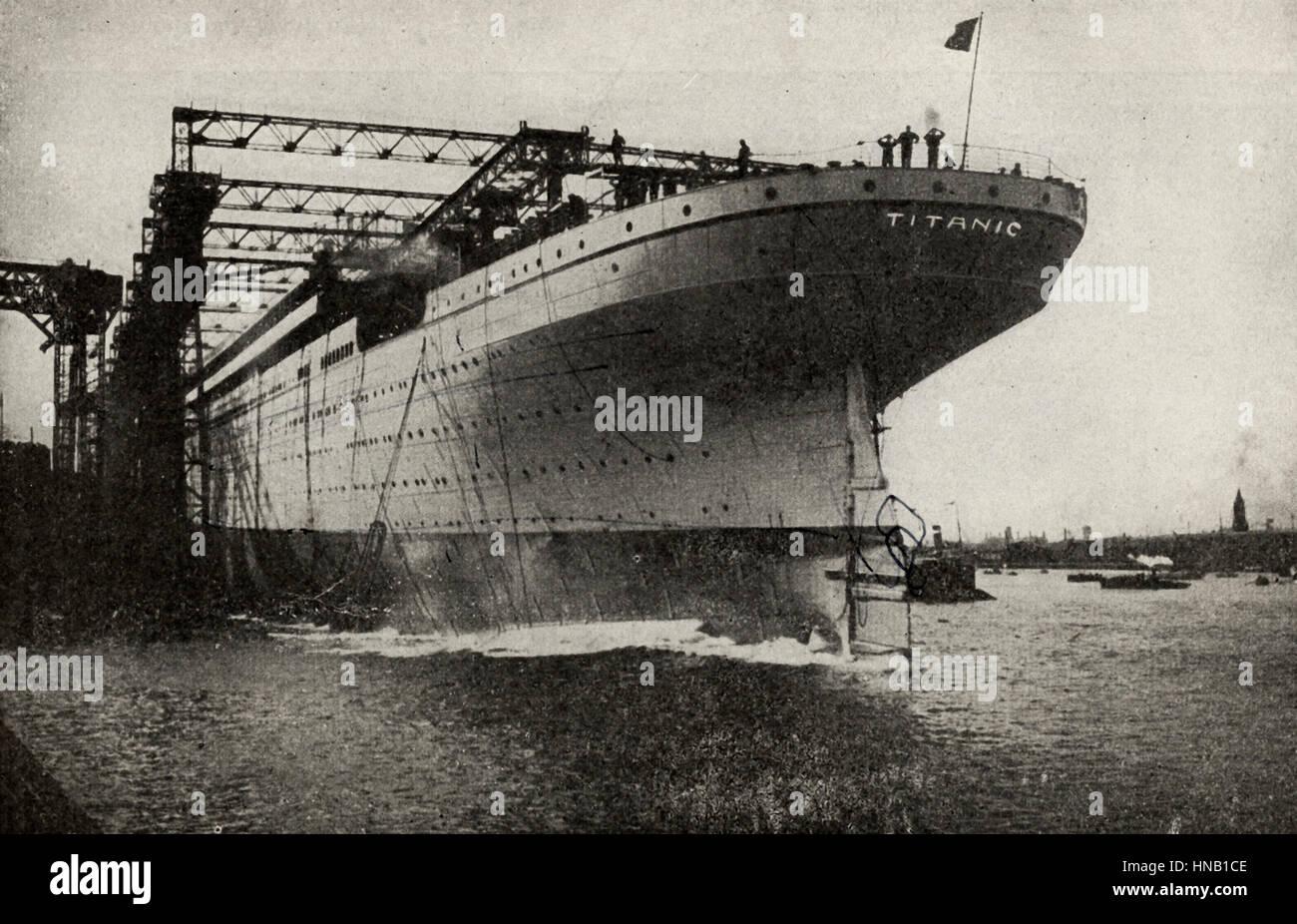 Die Titanic gebaut. Dieses Foto wurde als die Titanic, vertreten und klar sagt, wie viel, aber sehr wahrscheinlich Stockbild