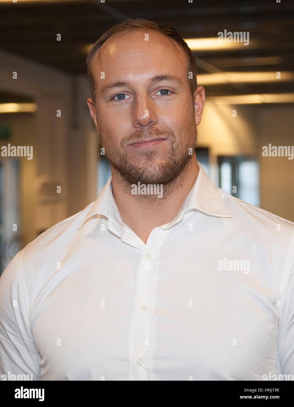 EMIL HEATON CHRISTENSEN e-Sport Counter-Strike Professional, heute derzeit der Leiter des NIP / Ninjas in Pyjamas Stockbild